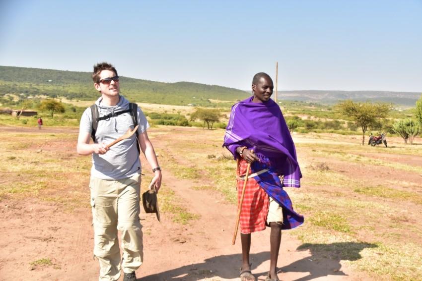 Unterwegs zum Maasai Dorf
