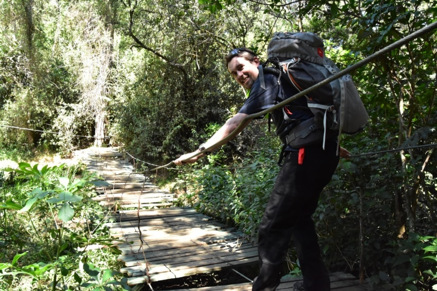 Wanderung im Mount Kenya Nationalpark