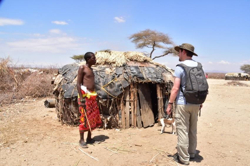 Die Nomaden Hütten der Samburu