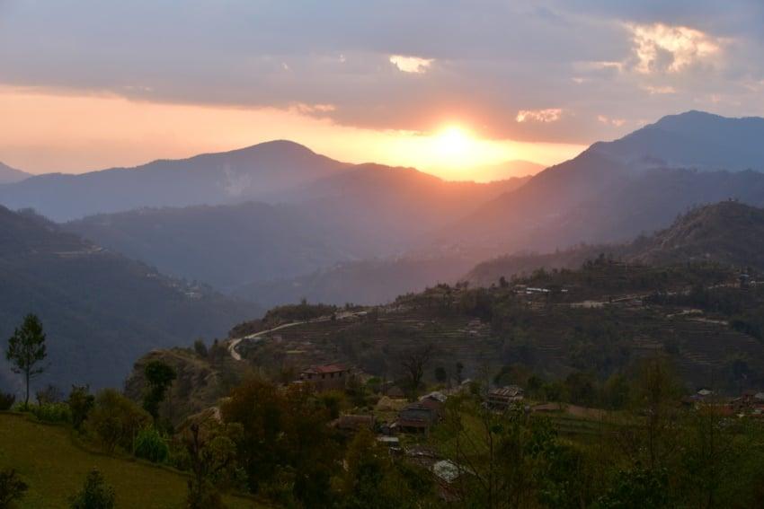 Sonnenuntergang in Astam
