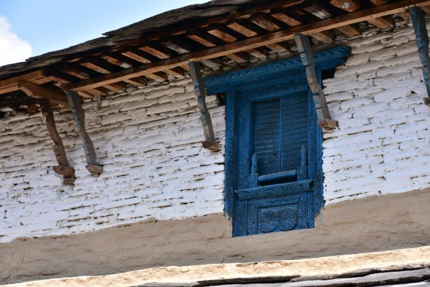 Typische Bauweise in Dhampus