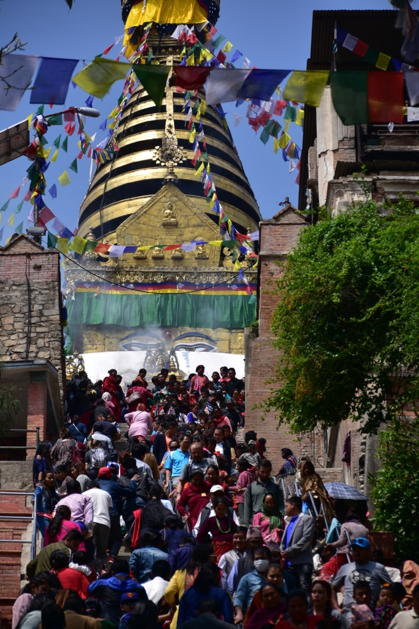 Buddhistisches Fest in Swayambhunath