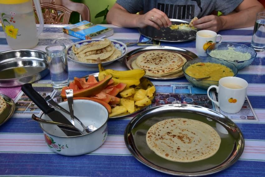 Frühstück im Homestay