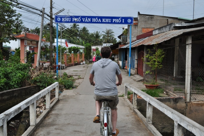 Radfahren im Mekong Delta